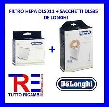 FILTRO HEPA DLS011 + SACCHETTI DLS35 DE LONGHI 5519210011 - 5519210141