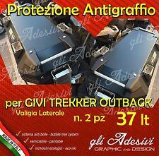 2 Pellicole protettive nera Valigie Givi Trekker Outback 37 litri ANTIGRAFFIO
