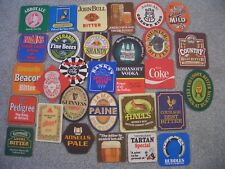 Vintage UK Beer Mats Set of 30 Different / Pub Mat Brewery Advertising
