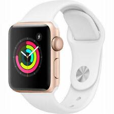Reloj de Apple serie 2 38mm Estuche De Oro-Banda De Deporte Blanco