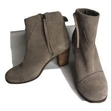 Toms Ankle Boots Heels Women Size 7 Tan Suede Upper