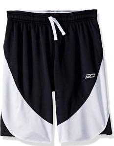 Under Armour Sc30 Shorts, Black (001) / White, Youth Large short joven niño