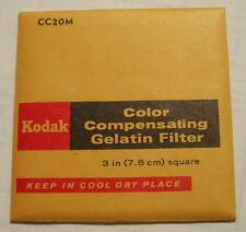 "KODAK COLOR COMPENSATING GELATIN FILTER NO. CC20M 3"" or 7.6cm Square"