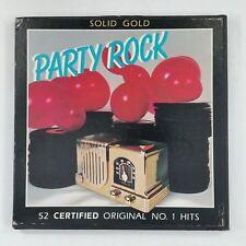 SOLID GOLD PARTY ROCK 52 Orig #1 Hits OP5501  5x LP Vinyl VG+ Box Set Cvr VG+