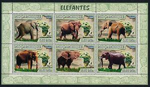 Mozambique 1758 MNH Elephants, Map