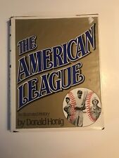 THE AMERICAN LEAGUE by Donald Honig 1983 FIRST EDITION (A)