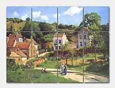 Pissarro L Hermitage at Pontoise Ceramic Mural Backsplash Kitchen 17x13 in