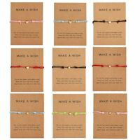 Make a wish Bracelet Multicolor Rope Adjustable String Lucky Bracelet Women Kids