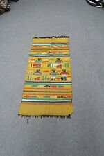 """Hand embroidered Stitched 21"""" x 43"""" Tapestry Textile Latin American Guatemalan"""