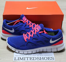 NIKE FREE RUN 2 BLUE SOLAR RED 443815-416 RUNNING US 11.5 ext db city grey white