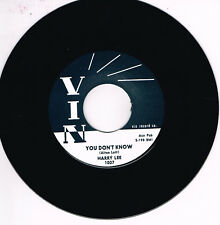 HARRY LEE - YOU DON'T KNOW (Legendary 1950s Rockabilly - New Repro)