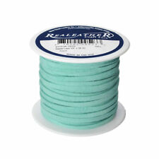 """Suede Craft Lace Aqua 1/8"""" x 25 yds. (3.2 mm x 22.8 M) by Realeather Made in USA"""