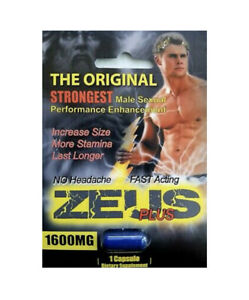 Zeus Plus 1600 - Male Herbal Enhancement Supplement 4 Pills