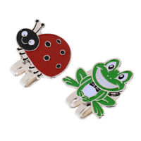 Cartoon Frog & Ladybug Golf Ball Marker with Magnetic Hat Clip Training Aids