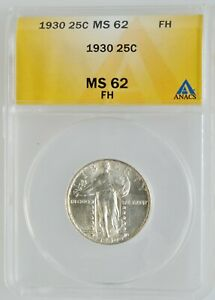 1930 Standing Liberty Quarter ANACS MS-62 FH Full Head Investment Grade Coin