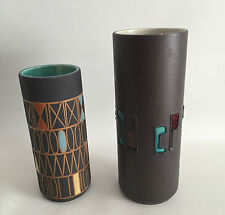 2 Vasen 70er 60er 60s 70s Design Schlossberg Hans Welling Messina Pottery German