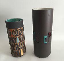 2 Vasen 70er 60er 60s 70s Design Schlossberg Hans Welling Messina Pottery German