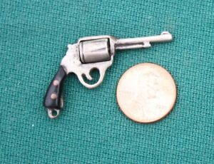 Unusual Circa 1900 Miniature COLT Single Action Army Replica Revolver Charm Fob