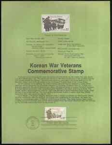 US. SP700. 2152. 22c. Korean War Veterans. Souvenir Pages.1985