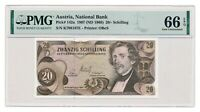 AUSTRIA banknote 20 Schilling 1967 PMG MS 66 EPQ Gem Uncirculated
