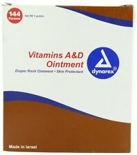 Dynarex Vitamins A&D Ointment Skin Protectant #1150 144 Packets