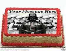Star Wars Darth Vader Cake topper edible digital image icing  REAL FONDANT