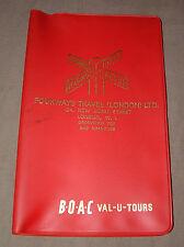 Red Plastic Fourways Travel London Pocket Organizer - BOAC Val-U-Tours