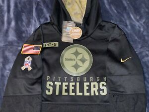 Authentic PITTSBURGH STEELERS Salute to Service Military Nike Sideline Hoodie