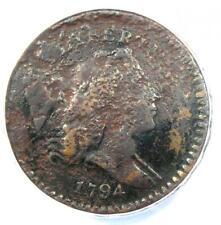 1794 Liberty Cap Flowing Hair Half Cent 1/2C - ANACS VF20 Detail - Rare Coin!