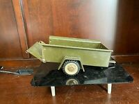 Vintage STRUCTO Military US Army Trailer Pressed Steel Collectible Toy-11383