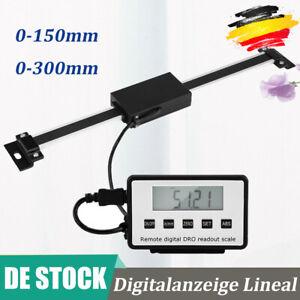 0-150/300mm LCD Digitalanzeige Lineal Skala Für Fräsen Drehmaschinen-Maschine