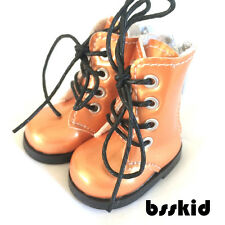 "Y01 BJD Yo-SD 1/6 Dollfie 13"" Effner 12"" Kish Doll Shoes Boot Orange Zip"