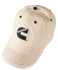 Cummins Diesel Engines Embroidered Black & Khaki Chino Contrast Cap/Hat