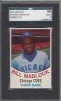 1977 Hostess baseball card #118 Bill Madlock, Chicago Cubs graded SGC 96 MINT 9