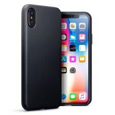 Apple iPhone X/XS TPU Gel Silicone Rubber Slim Thin Cover Case in Matte Black