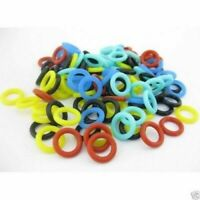 100pcs Silicone Tattoo O-rings F Machine Gun Springs Supply Mix Multi Color
