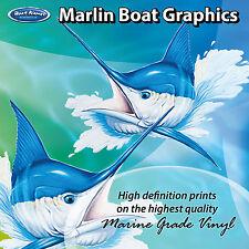 Marlin Head Graphics - set of 250mm Boat Graphics