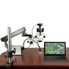 2.1X-225X 720p WiFi Digital Zoom Stereo Articulating Microscope 30W Led Y-Light