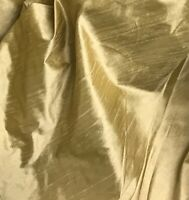 "Gold 2tone 100% silk dupioni fabric 54"" wide 1 Yard"