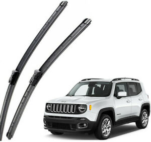 New Set OEM Front Windshield Wiper Blades Fit For 2015-2020 JEEP Renegade