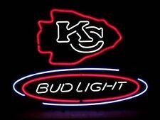 "New Bud Light Kansas City Chiefs Neon Sign 24""x20"""