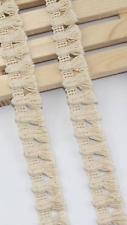 Cream 2.1cm Delicate Trim Tassel Fringe DIY Natural Cotton Lace Price per 30cm