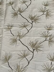 """HARLEQUIN CURTAIN FABRIC """"Entwine"""" 3.2 METRES PEWTER/SLATE/NEUTRAL EMBROIDERED"""