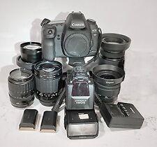 CANON EOS 5D MARK II Full Frame Digital SLR Camera & 6 Lenses