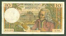 FRANCE 10 FRANCS VOLTAIRE  1 / 6 / 1972  ETAT : TB   S794 05130