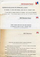 JOHNNY CARSON THE TONIGHT SHOW RARE ORIGINAL 1985 NBC TV PRESS MATERIAL