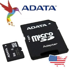 Adata Micro SD Card and Adapter - 8GB