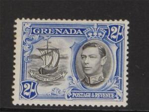 COMMONWEALTH GRENADA 1938  KGVI 2/ BLACK & BLUE  Sg  161 MINT NEVER HINGED