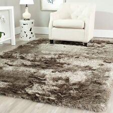 Safavieh Paris Glam Shag Rug 5'x7' Area Carpet Indoor Solid Brown Hand Tufted