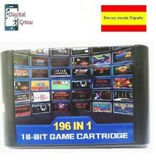 Cartucho Sega Mega Drive 196 en 1 Sunset Riders, Street of Rage, Alien Soldier